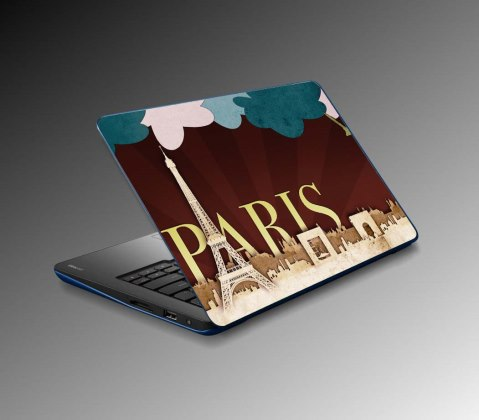 Paris Tower Laptop Sticker (07-34578-122)